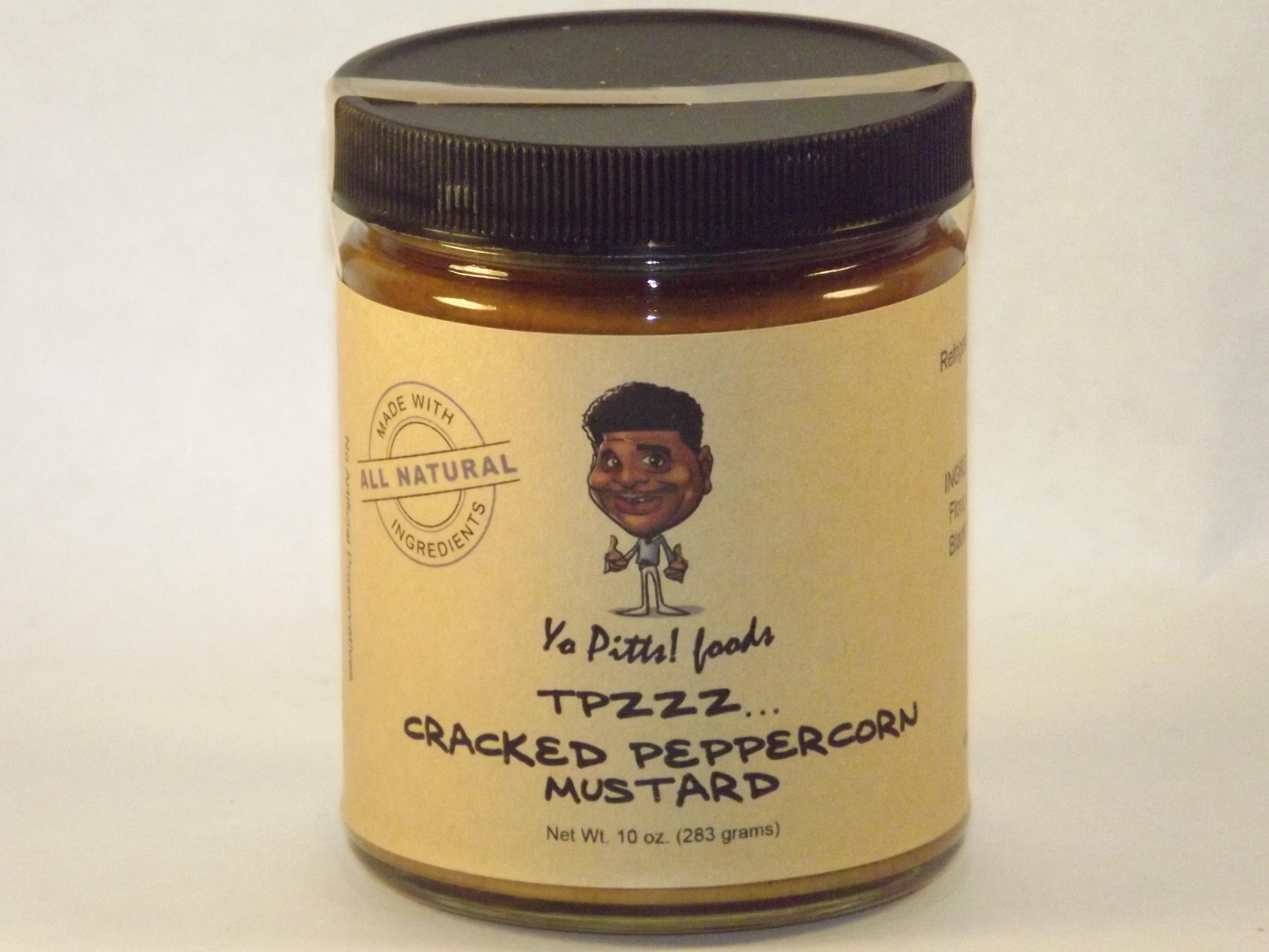 Yo Pitts! Foods Cracked Peppercorn Mustard